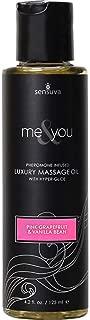 Me & You Massage Oil [Pink Grapefruit & Vanilla Bean] Sensual Pheromone Infused Luxury Massage Oil; Size 4.2 Oz