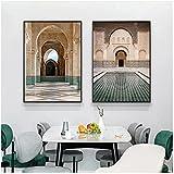 QIAOB Leinwand Wandbild,Moderne Hassan II Moschee