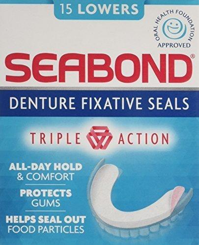 SEABOND LOWER DENTURE FIXATIVE SEALS 15's [3]