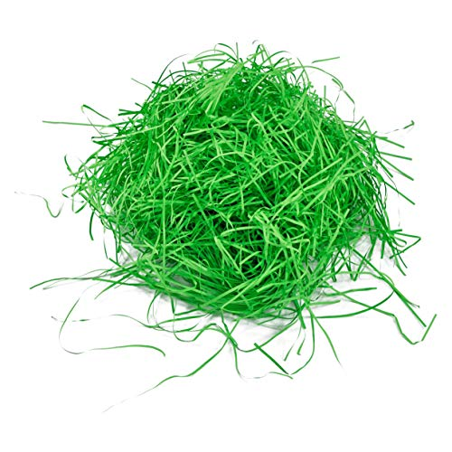 Ostergras aus Papier zum Dekorieren Ostern, 40g grün