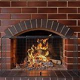 Relaxdays Kaminschutzgitter, Schutzgitter zum Klemmen, Kamingitter für Wandbefestigung, 160 cm breit, schwarz - 2