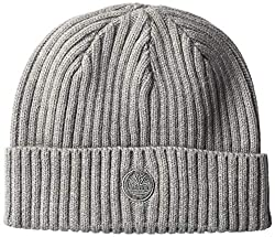 in budget affordable Timberland Men's Rib Watch Cap, with Logo Patch, Heather Gray 2 One Size