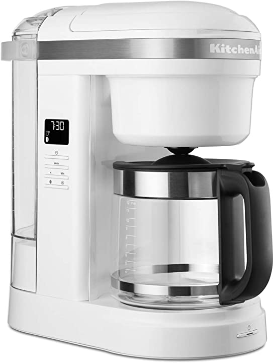 Macchina per caffè a infusione kitchenaid vetro bianco 5KCM1208EWH