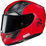Casque moto HJC RPHA 11 DEADPOOL 2 MARVEL MC1SF, Rouge/Noir, M