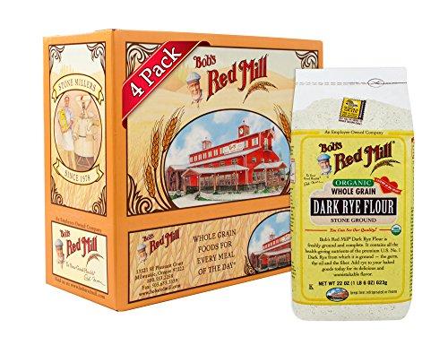 Bob's Red Mill Organic Dark Rye Flour, 22-ounce (Pack of 4)