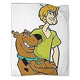 Scooby Doo y Shakie CartoonManta de forro polar súper suave, 100 x 130 cm, resistente a la decoloración y supersuave. Se utiliza para varias fiestas en el sofá cama.
