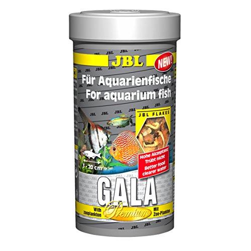 JBL Gala 40431 Premium Alleinfutter für Aquarienfische, Flocken 250 ml