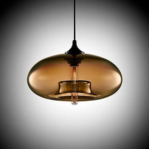 lumière BYJUM Moderne élégant plafonnier lumière Pendentif Rond luminaire Cristal Lustre E27 d'éclairage de Plafond élégant 110-240V,cognacCouleur
