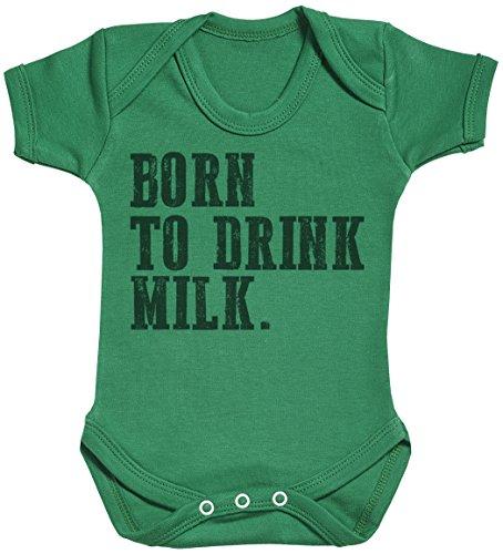 Baby Buddha Born to Drink Milk. Body bébé - Gilet bébé - Body bébé Ensemble-Cadeau - Naissance Vert