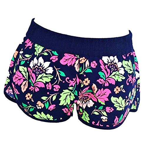 KIRALOVE Kurze Badeshorts - Blumenmuster - Shorts - Strand - Erwachsene - originelle Geschenkidee - Frau - sexy mädchen - Sommer - Badebekleidung - frühling - größe s - schwimmbadesport Shorts
