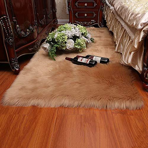 LYZL Die synthetische Long-Haar-Pelz-Teppich 5-6cm Polyester 100% Harmless Artificial Fur für Wohnzimmer Schlafzimmer Sofa Boden,Braun,60×180cm/1.9×5.9ft