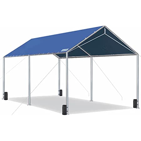 Quictent 10X20'ft Upgraded Heavy Duty Carport Car Canopy Party Tent with Reinforced Steel Cables-Blue