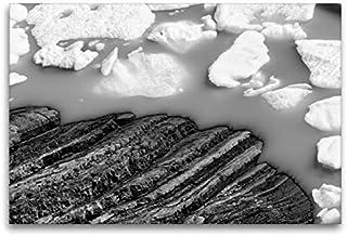 Premium Textil -Leinwand 120 cm x 80 cm horizontal, Eisschollen am Perito Moreno Gletscher en Argentina - Cuadro sobre bastidor, listo sobre lienzo, diseño de calvendo Orte