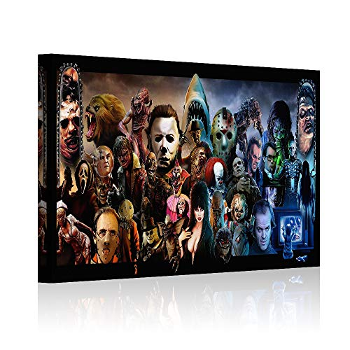 HAOSHUNDA Horror Movies Oil Painting on Canvas Posters and Prints Decoracion Wall Art Picture Living Room Wall (12' x 18', Artwork - 05)
