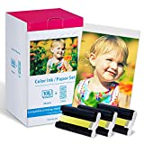 Markurlife Compatible for Canon KP-108IN Color Ink and Paper Set 4 x 6 or RP-108...