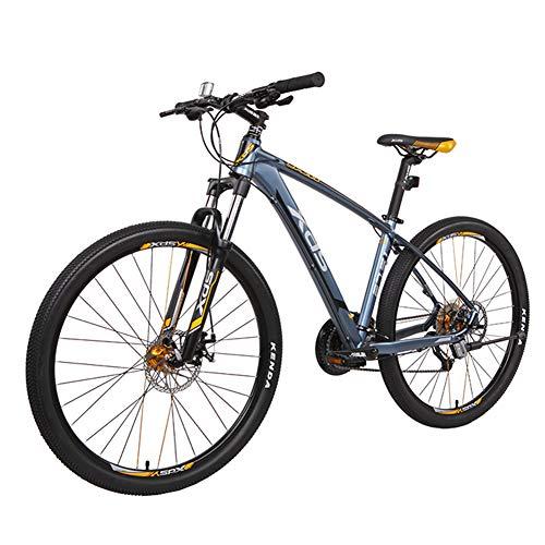 NENGGE Bicicleta Montaña 27.5 Pulgadas, 27 Velocidades Hard Tail Bicicleta Portátil, Profesional Hombre Mujer Ciclismo, Doble Freno Disco & Doble Suspensión,Grayish Yellow,B
