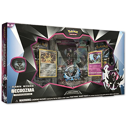 Pokemon TCG: Dawn Wings Necrozma Premium Figure Collection Box Featuring A Collector's Figure & Pin