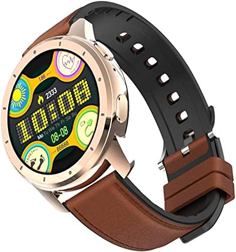 YLB - Reloj inteligente para hombre y mujer, resistente al agua, accesorio deportivo con monitor de frecuencia cardíaca, MP3, Bluetooth y llamadas (color: D)