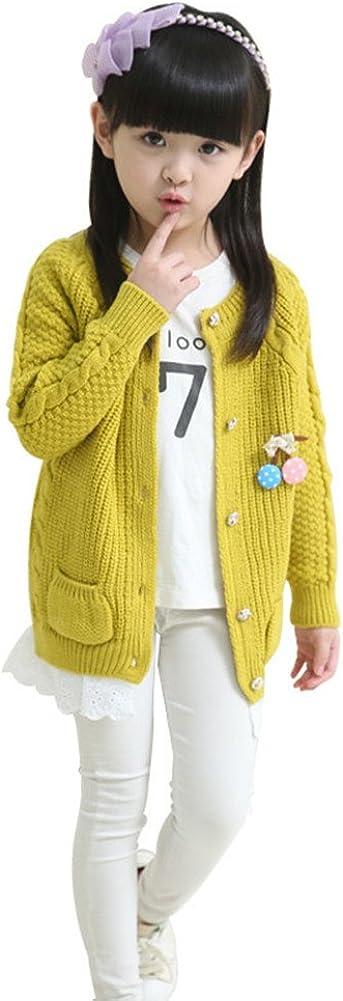 FTSUCQ Girls Knitwear Sweaters Lace Cardigan