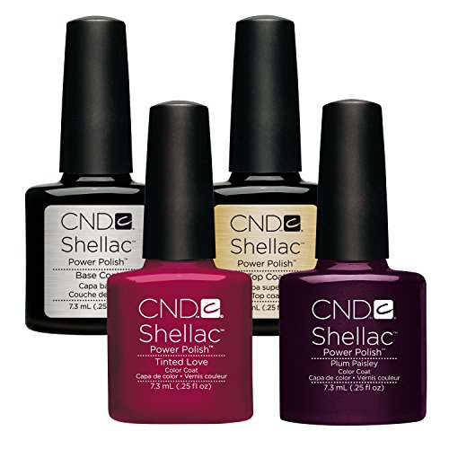 CND Shellac Tinted Love plus Plum Paisley plus Top Coat plus Base Coat 7.3 ml, 1er Pack (1 x 29 ml)