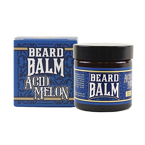 HEY JOE - Beard Balm Nº1 ACID MELON 50ml | Balsamo para barba 50ml con ARGÁN, JOJOBA, COCO y manteca de KARITÉ. Aroma a MELÓN
