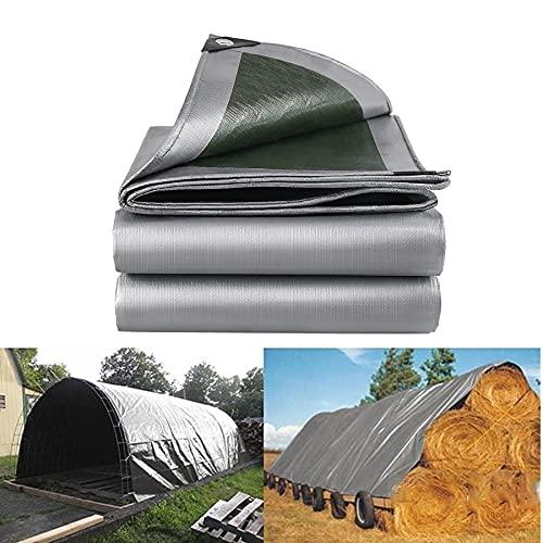 Xooz 160 g/m² Tarpaulin, PE Cubierta a Prueba de Lona de Lona Resistente a Prueba de Agua con Ojales para Muebles de jardín Camping de Coche de trampolín,3x4 m