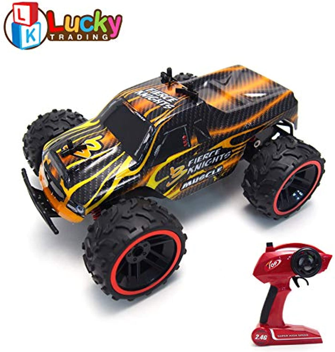 816014cc254b 1 16 Scale All Terrain RC Cars, High Speed 4WD Remote Truck for Kids ...