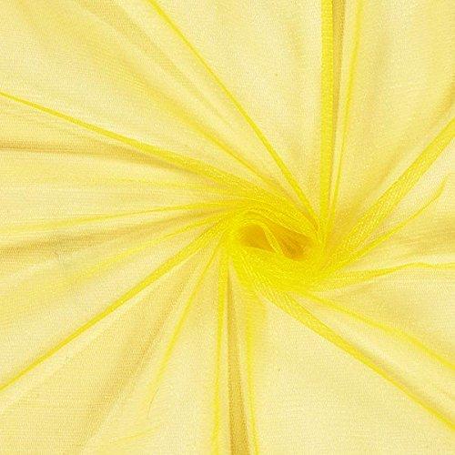 Fabulous Fabrics Tüll gelb, Uni, 150cm breit – zum Nähen von Brautschleiern, Petticoats und Röcken - Meterware erhältlich ab 0,5 m