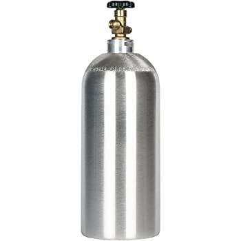 New 10 lb. Aluminum CO2 Cylinder with CGA320 Valve