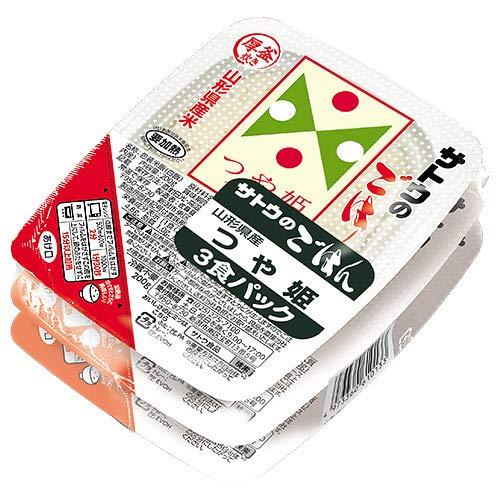 サトウ食品 サトウのごはん 山形県産つや姫 3食パック 200g×3食×12個入×(2ケース)