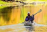 Pelican Poseidon Angler Fishing Lightweight Kayak Paddle - Built-in Retrieval Hooks - Fiberglass Reinforced (Sand, 98.5 in)