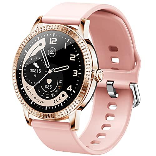 jpantech Smartwatch Orologio Fitness Donna Bluetooth Smart Watches Fitness Tracker Misuratore Pressione Cardiofrequenzimetro Impermeabile IP68 Orologi Sportivi Compatible with Android iOS