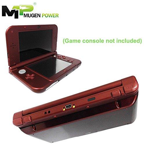 """Nueva Nintendo 3DSLL (Japón) / 3DS XL 3DSXL (Europa) - Mugen Power 6250mAh Batería Extendida 8-12 horas juego no incluye consola de juegos Garantía de 1 Año (Nueva Cubierta Roja) """"No incluye consola de juegos"""""""