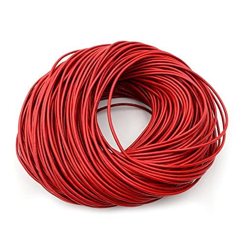 QXLG Cuerda de Cuero 1.0/1.5/2 / 2.5/3/4 / 5mm 4 Color Cuero Genuino de la Vaca Cordón Redondo Cordón de cordón Pulsera Hallazgo Cuerda de Cuerda para la fabricación de Joyas Accesorio de joyería