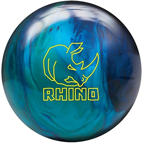 Brunswick Bowling Ball Colors and all weights Rhino Suitable for Men and Women CobaltAquaTeal Pearl 10 LBS