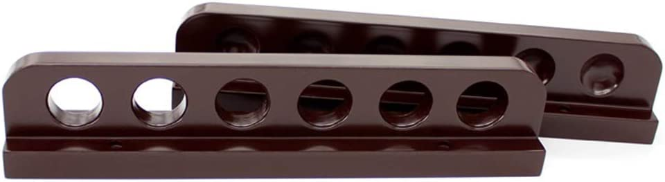 ELIUSI depot Standard Pool Cue Stick Holder 6 Cues Mount Holds famous Wall -
