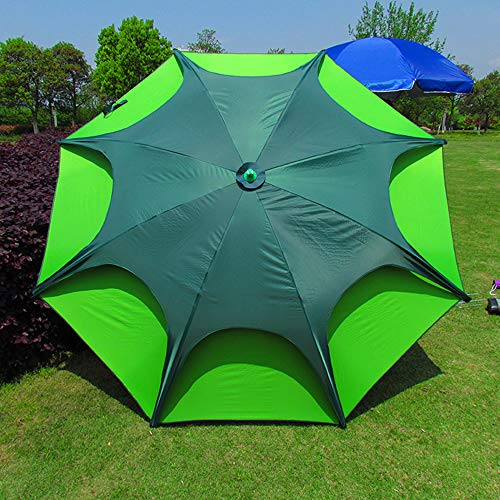 2.4m Ombrello da Pesca A Doppio Strato Ombrellone Giardino Impermeabile, Tenda da Sole Portatile per Campeggio Spiaggia, con Ancoraggio A Terra