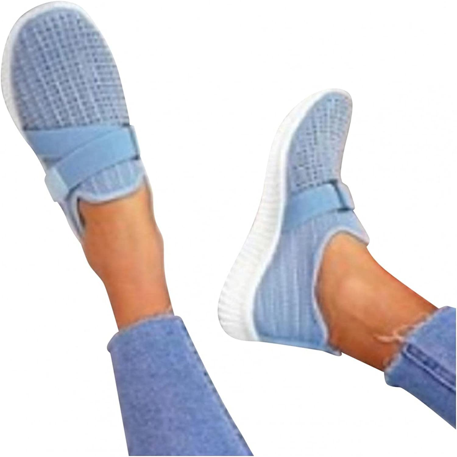 Hbeylia Walking Shoes For Women Fashion Casual Beads Platform Memory Foam Athletic Running Hiking Sports Shoes Lightweight Breathable Tennis Trainers For Skateboard Skiing Work Nurse