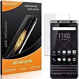 SWIDO Bildschirmschutzfolie für BlackBerry KeyOne [3 Stück] Anti-Reflex MATT Entspiegelnd, Extrem Kratzfest, Schutz vor Kratzer/Folie, Bildschirmschutz, Schutzfolie, Panzerfolie