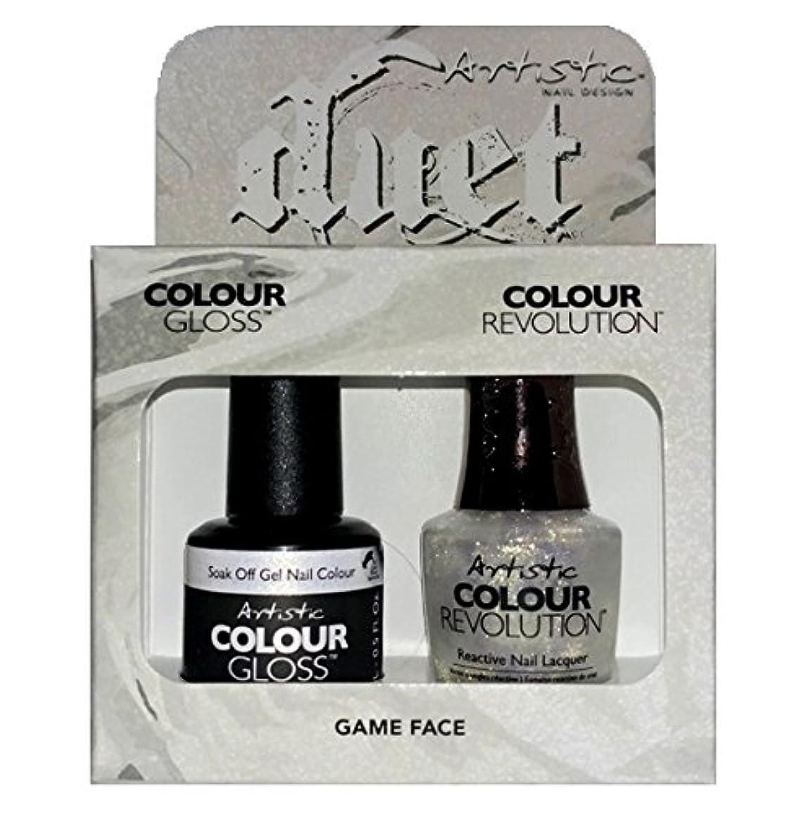 リング蓋遊具Artistic Nail Design - Duet Gel & Polish Duo - Game Face - 15 mL / 0.5 oz each