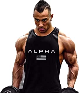 Hombre Camiseta de Tirantes Deportiva Bodybuilding