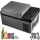 1yess 20L compresor portátil pequeña Nevera portátil refrigerador del Coche Refrigerador Congelador Mini eléctrico de refrigeración for Viajes de Pesca de conducción al Aire Libre y Home Uso- Negro