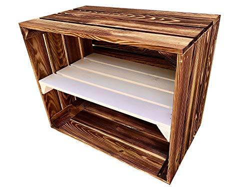 Ecobox Vintage Déco B 2SM, caja de frutas, bricolaje, caja de vino de madera, ideal como zapatero, ideal para muebles, tamaño 50 x 40 x 30 cm
