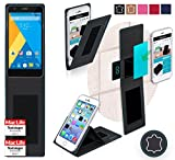reboon Hülle für Elephone P7000 Tasche Cover Case Bumper | Schwarz Leder | Testsieger