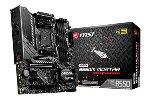 MSI MAG B550M MORTAR AMD AM4 DDR4 M.2 USB 3.2 Gen 2 HDMI M-ATX Gaming Motherboard