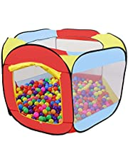 Kid's Playhouse Play Tent Ball Pit Tent Ball Pit Balls Imagination Generation (Red Play Tent)