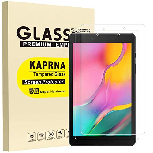 [2 Piezas] KAPRNA Protector Pantalla Compatible con Samsung Galaxy Tab A 8.0 2019 [Solo modelo SM-T290 WiFi],Cristal Templado Samsung Tab A 8.0 2019 SM-T290