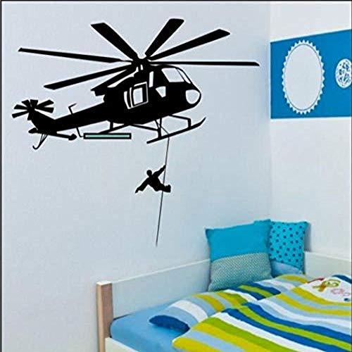 Wandaufkleber Rettungshubschrauber Wandtattoo Schlafzimmer Büro Vinyl Wandaufkleber Aufkleber Aufkleber 84x95cm