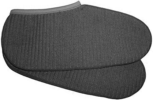 2 Paar Stiefelsocken Blau/Grau mit robuster Schafwolle - Made in Germany Farbe Grau Größe 43/44