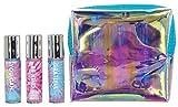iscream Tie Dye 3-piece Mini Lip Gloss Set in Holographic Zipper Case
